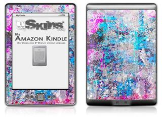 Graffiti Splatter - Decal Style Skin (fits 4th Gen Kindle with 6inch display and no keyboard)