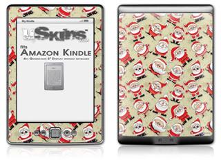 Lots of Santas - Decal Style Skin (fits 4th Gen Kindle with 6inch display and no keyboard)