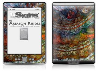 Organic 2 - Decal Style Skin (fits 4th Gen Kindle with 6inch display and no keyboard)