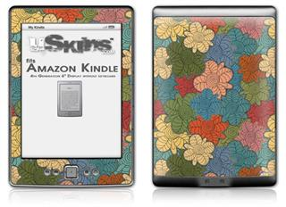 Flowers Pattern 01 - Decal Style Skin (fits 4th Gen Kindle with 6inch display and no keyboard)