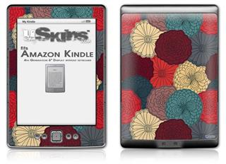 Flowers Pattern 04 - Decal Style Skin (fits 4th Gen Kindle with 6inch display and no keyboard)