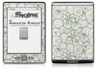 Flowers Pattern 05 - Decal Style Skin (fits 4th Gen Kindle with 6inch display and no keyboard)