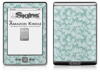 Flowers Pattern 09 - Decal Style Skin (fits 4th Gen Kindle with 6inch display and no keyboard)