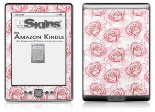 Flowers Pattern Roses 13 - Decal Style Skin (fits 4th Gen Kindle with 6inch display and no keyboard)