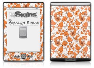 Flowers Pattern 14 - Decal Style Skin (fits 4th Gen Kindle with 6inch display and no keyboard)