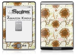 Flowers Pattern 19 - Decal Style Skin (fits 4th Gen Kindle with 6inch display and no keyboard)
