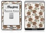 Flowers Pattern Roses 20 - Decal Style Skin (fits 4th Gen Kindle with 6inch display and no keyboard)