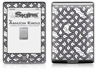 Locknodes 01 Lavender - Decal Style Skin (fits 4th Gen Kindle with 6inch display and no keyboard)