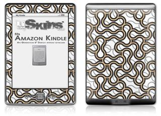 Locknodes 01 Peach - Decal Style Skin (fits 4th Gen Kindle with 6inch display and no keyboard)