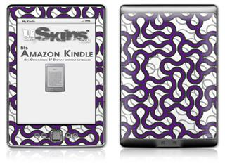 Locknodes 01 Purple - Decal Style Skin (fits 4th Gen Kindle with 6inch display and no keyboard)