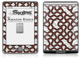 Locknodes 01 Red Dark - Decal Style Skin (fits 4th Gen Kindle with 6inch display and no keyboard)