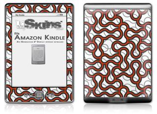 Locknodes 01 Red - Decal Style Skin (fits 4th Gen Kindle with 6inch display and no keyboard)