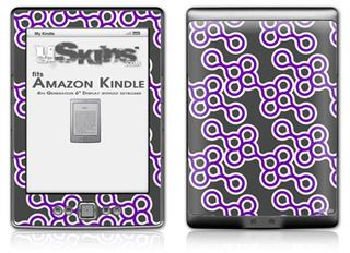 Locknodes 02 Purple - Decal Style Skin (fits 4th Gen Kindle with 6inch display and no keyboard)