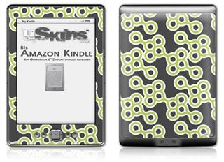Locknodes 02 Sage Green - Decal Style Skin (fits 4th Gen Kindle with 6inch display and no keyboard)