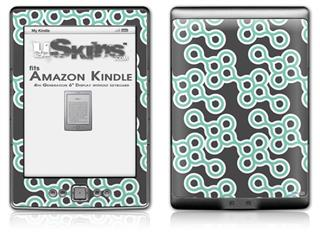 Locknodes 02 Seafoam Green - Decal Style Skin (fits 4th Gen Kindle with 6inch display and no keyboard)