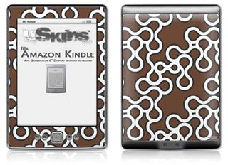 Locknodes 03 Chocolate Brown - Decal Style Skin (fits 4th Gen Kindle with 6inch display and no keyboard)