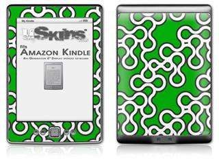 Locknodes 03 Green - Decal Style Skin (fits 4th Gen Kindle with 6inch display and no keyboard)