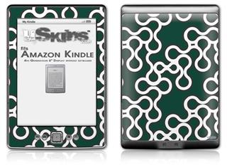 Locknodes 03 Hunter Green - Decal Style Skin (fits 4th Gen Kindle with 6inch display and no keyboard)