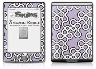 Locknodes 03 Lavender - Decal Style Skin (fits 4th Gen Kindle with 6inch display and no keyboard)