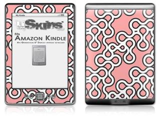 Locknodes 03 Pink - Decal Style Skin (fits 4th Gen Kindle with 6inch display and no keyboard)