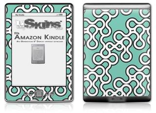 Locknodes 03 Seafoam Green - Decal Style Skin (fits 4th Gen Kindle with 6inch display and no keyboard)