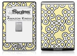 Locknodes 03 Yellow Sunshine - Decal Style Skin (fits 4th Gen Kindle with 6inch display and no keyboard)