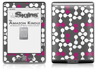 Locknodes 04 Hot Pink (Fuchsia) - Decal Style Skin (fits 4th Gen Kindle with 6inch display and no keyboard)