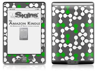 Locknodes 04 Green - Decal Style Skin (fits 4th Gen Kindle with 6inch display and no keyboard)