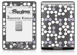 Locknodes 04 Lavender - Decal Style Skin (fits 4th Gen Kindle with 6inch display and no keyboard)