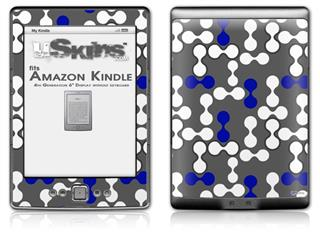 Locknodes 04 Royal Blue - Decal Style Skin (fits 4th Gen Kindle with 6inch display and no keyboard)