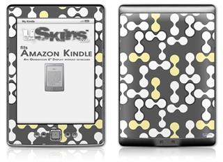 Locknodes 04 Yellow Sunshine - Decal Style Skin (fits 4th Gen Kindle with 6inch display and no keyboard)