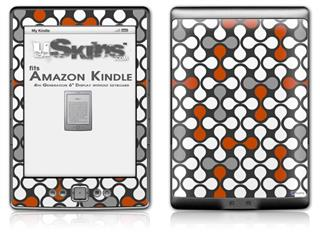 Locknodes 05 Burnt Orange - Decal Style Skin (fits 4th Gen Kindle with 6inch display and no keyboard)