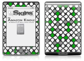 Locknodes 05 Green - Decal Style Skin (fits 4th Gen Kindle with 6inch display and no keyboard)