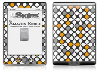 Locknodes 05 Orange - Decal Style Skin (fits 4th Gen Kindle with 6inch display and no keyboard)
