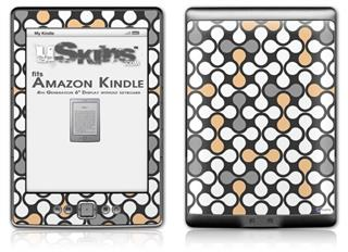 Locknodes 05 Peach - Decal Style Skin (fits 4th Gen Kindle with 6inch display and no keyboard)
