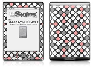 Locknodes 05 Pink - Decal Style Skin (fits 4th Gen Kindle with 6inch display and no keyboard)