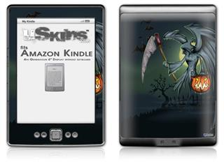 Halloween Reaper - Decal Style Skin (fits 4th Gen Kindle with 6inch display and no keyboard)