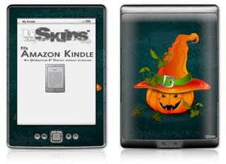 Halloween Mean Jack O Lantern Pumpkin - Decal Style Skin (fits 4th Gen Kindle with 6inch display and no keyboard)