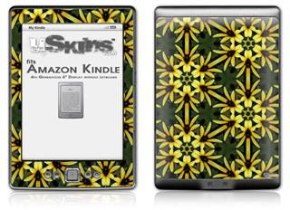 Daisy Yellow - Decal Style Skin (fits 4th Gen Kindle with 6inch display and no keyboard)