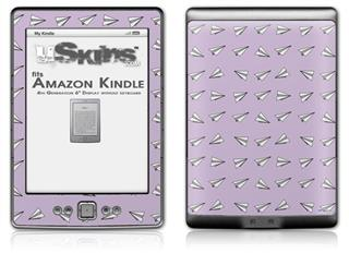 Paper Planes Lavender - Decal Style Skin (fits 4th Gen Kindle with 6inch display and no keyboard)