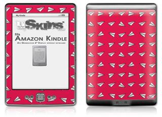 Paper Planes Rasberry - Decal Style Skin (fits 4th Gen Kindle with 6inch display and no keyboard)