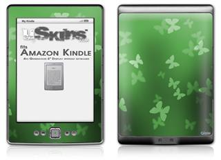 Bokeh Butterflies Green - Decal Style Skin (fits 4th Gen Kindle with 6inch display and no keyboard)