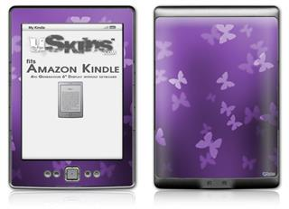 Bokeh Butterflies Purple - Decal Style Skin (fits 4th Gen Kindle with 6inch display and no keyboard)