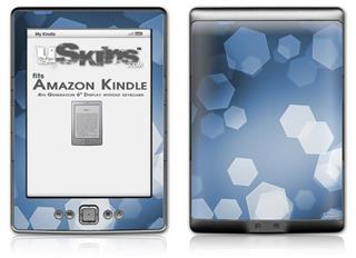 Bokeh Hex Blue - Decal Style Skin (fits 4th Gen Kindle with 6inch display and no keyboard)