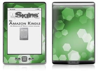 Bokeh Hex Green - Decal Style Skin (fits 4th Gen Kindle with 6inch display and no keyboard)