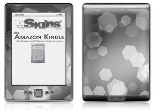 Bokeh Hex Grey - Decal Style Skin (fits 4th Gen Kindle with 6inch display and no keyboard)