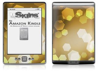 Bokeh Hex Yellow - Decal Style Skin (fits 4th Gen Kindle with 6inch display and no keyboard)