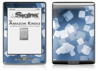 Bokeh Squared Blue - Decal Style Skin (fits 4th Gen Kindle with 6inch display and no keyboard)