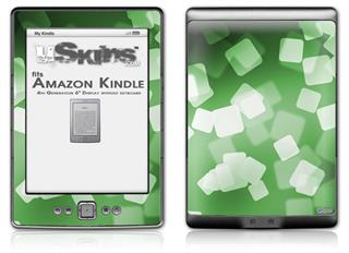 Bokeh Squared Green - Decal Style Skin (fits 4th Gen Kindle with 6inch display and no keyboard)