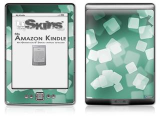 Bokeh Squared Seafoam Green - Decal Style Skin (fits 4th Gen Kindle with 6inch display and no keyboard)